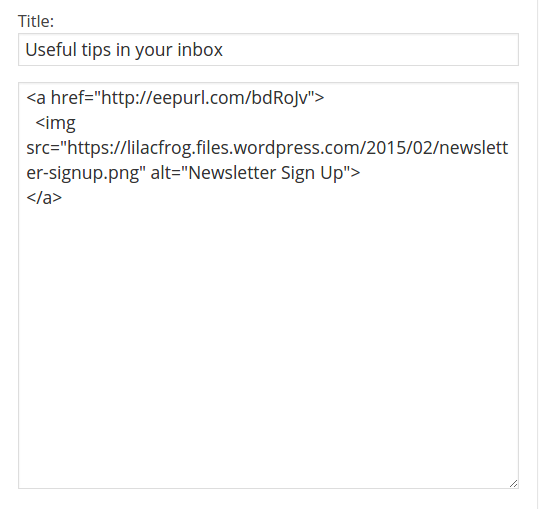edit text widget with imgscr html