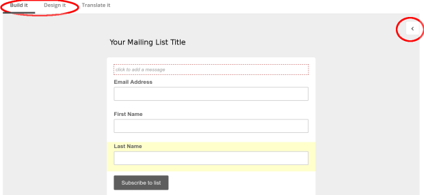 Use these areas to customise the look of your form